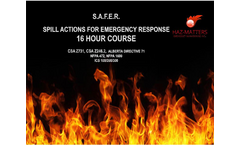 S.A.F.E.R. 16 Hour General Spill Response Training Courses Brochure