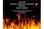 HAZCHEM ONLINE Unstable, Reactive and Unknown Material Course Brochure