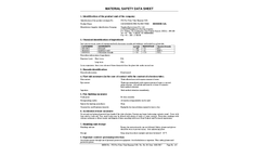 Tiger Select - Benzene & Total Aromatic Compound (TAC) Gas Detector - MSDS