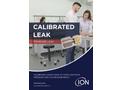 ION - Standard Calibrated Leaks - Brochure