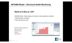 Webinar on Structural Health Monitoring (SHM) using ARTeMIS Modal - Video
