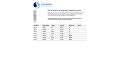 SBE - Model 3F/3Plus/3S - Oceanographic Temperature Sensor - Datasheet