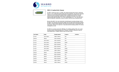 SBE - Model 4 - Conductivity Sensor - Datasheet