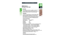 Model DBGS Drain 8 - Composite Drainage and Filter Layer Datasheet