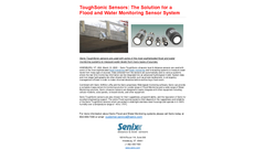 ToughSonic Sensors: The Solution for a Flood and Water Monitoring Sensor System