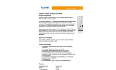 Eltra - Model CS-580A - Carbon / Sulfur Analyzer Brochure