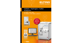 Eltra - Model CHS-580A - Carbon / Hydrogen / Sulfur Analyzer Brochure