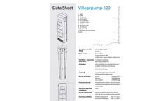 Villagepump - Model 500 - Water Purification System for Rural Areas Data Sheet