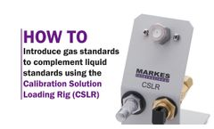 How to Introduce Gas Standards to Complement Liquid Standards Using the CSLR - Video