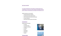 Water Treatment and Purification Technologies - Brochure