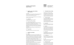 Conditions of Participation Special Section Brochure