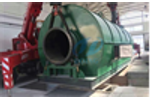 Italy waste tyre recycling pyrolysis plant price runing video
