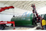 Wate rubber recycling pyrolysis plant running in Italy