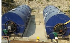 DY - Model DY 6T 8T 10T  - Waste tyre recycling pyrolysis plant