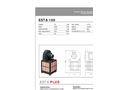 ESTA - Model 100 - Stationary Dust Extractors - Data Sheet