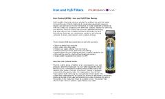 Pursanova - Iron and H2S Filters - Datasheet