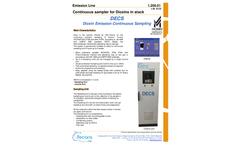 Tecora - Model DECS - Continuous Emission Dioxins Sampler Brochure