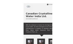 Canadian Crystalline Water India Ltd Profile Brochure