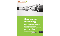 Model HD - Test and Flow Control Bladder - Datasheet