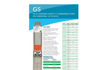 GS Pump - Model 5-25 Range (1/2 to 5 HP) - Standard Capacity Submersible Well Pumps Brochure