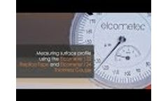 Measuring Surface Profile using the Elcometer 122 Replica Tape & Elcometer 124 Thickness Gauge Video