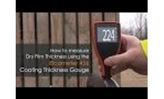 How to measure dry film thickness using the Elcometer 456 Coating Thickness Gauge Video