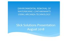 ENVIRONMENTAL REMOVAL OF WATERBORNE CONTAMINANTS  USING ARCHAEA TECHNOLOGY