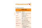PRIMA - Model PAS 230 - Mid Sized Cleaner- Brochure