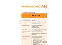 PRIMA - Model PAS 350 - Acoustic Cleaner Brochure