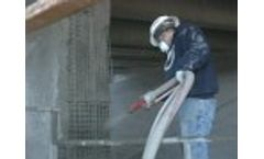 Bridge Repair, Gunite, Shotcrete, Concrete Repair, Cyclone Gunite Machine Demonstration Video
