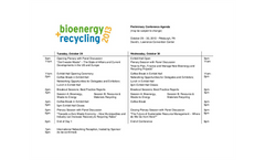bioenergy + recycling 2013 - Conference Schedule