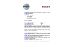 Parsonpoxy FS1 Full Data Sheet