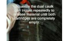 Manhole Leak Repair - Stop High Volume Leaks Quickly with Seal-Tite Video