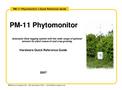 Model PM-11 - Phytomonitor- Brochure