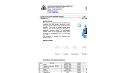Model 311 Series - Gate Valve with Rubber Wedge Brochure