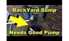 Backyard Sump Pump Drainage.. Needs Good 1/2 hp Pump Video