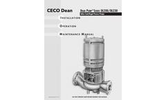 Dean Pump - Series DL200/DL230 - Inline Centrifugal Process Pumps - Manual