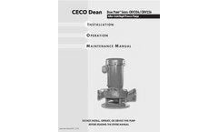 Dean Pump - Series CNV206/CNV236 - Inline Centrifugal Process Pumps - Manual