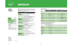 GREENLEAF line - Foliar Fertilisers with Meso and Micronutrients- Brochure