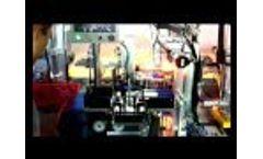 Solar modules Automatic welding machine working Video