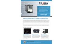 SAXON - Model Infralyt N - Emission Tester for Combustion Engines - Datasheet