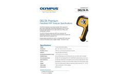 DELTA Premium Handheld XRF Analyzer Spec. Sheet