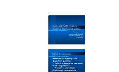 Capital and O&M Cost for RO - Presentation Brochure