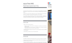 aquaTest-MO - Model P103 - Multiparameter Physicochemical and Organic Matter Equipment  Brochure