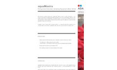 aquaMostra - Model M104 - Refrigerated Automatic Sampler Brochure