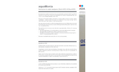 aquaMonia - Model A103, A104, A105 - Ammonium Water Analysers Brochure