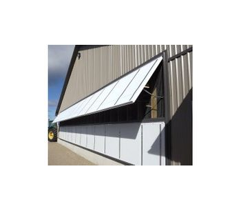 Faromor - Model HWP - Hinged Wall Panel Systems for Poultry Industry Ventilation