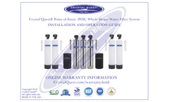 Crystal Quest Smart - Model 9-13 GPM | 4-6 - CQE-WH-01127 - Whole House Water Filter Manual