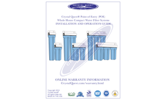 Crystal Quest - Model CQE-WH-01109A - Big Blue Whole House Water Filter Brochure