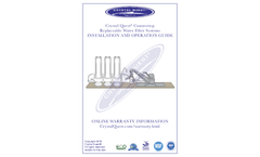 Crystal Quest - Model CQE-CT-00133 - Fluoride Countertop Water Filter System Manual